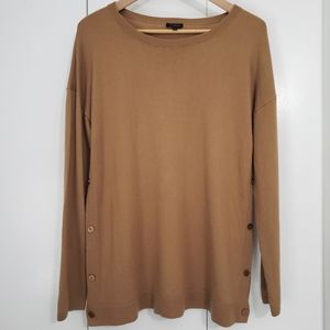 Talbots camel color light sweater size L